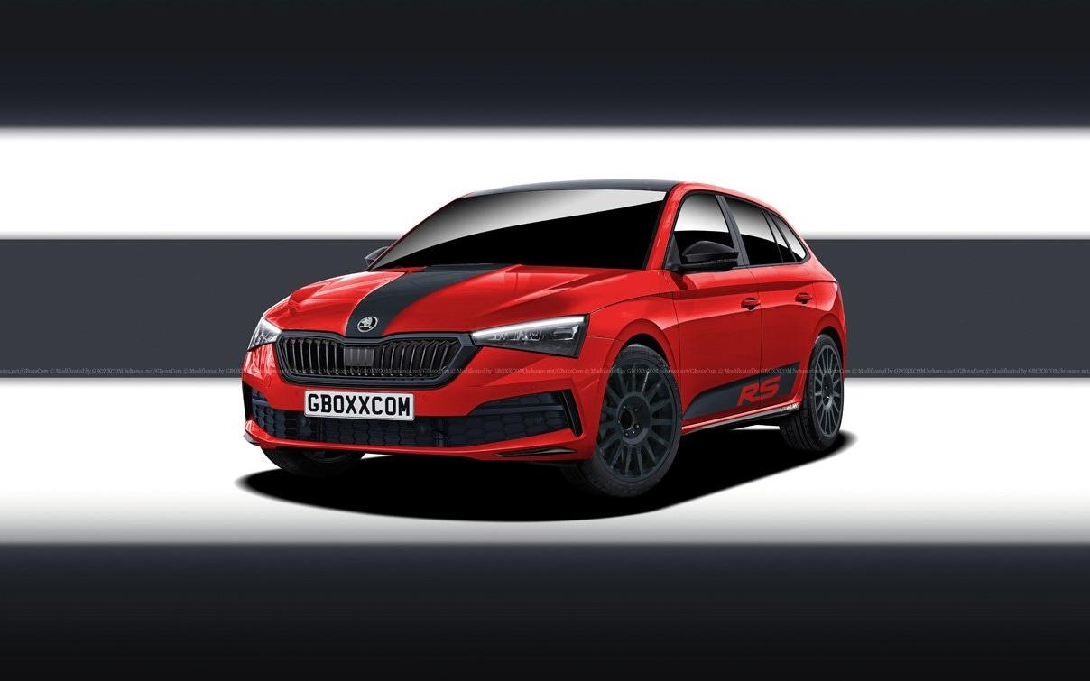 Škoda Scala RS render