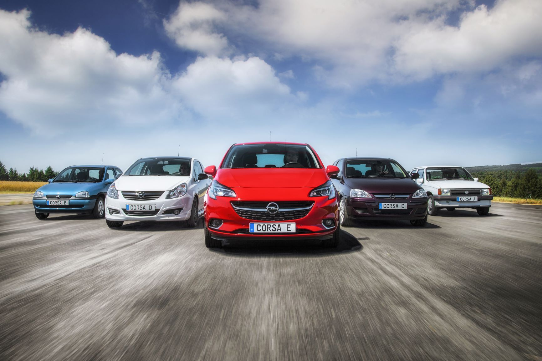 Opel Corsa pet generacija