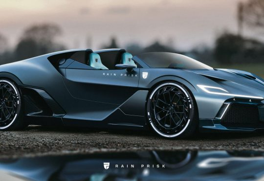 Bugatti Divo Speedster - Render fotografija