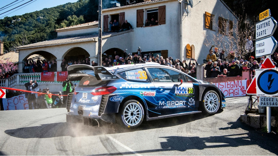 WRC reli Korzika