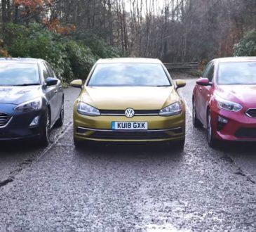 VW Golf, Ford Focus i Kia Ceed