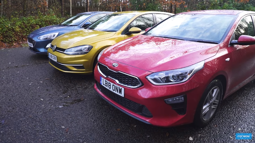 VW Golf, Ford Focus i Kia Ceed