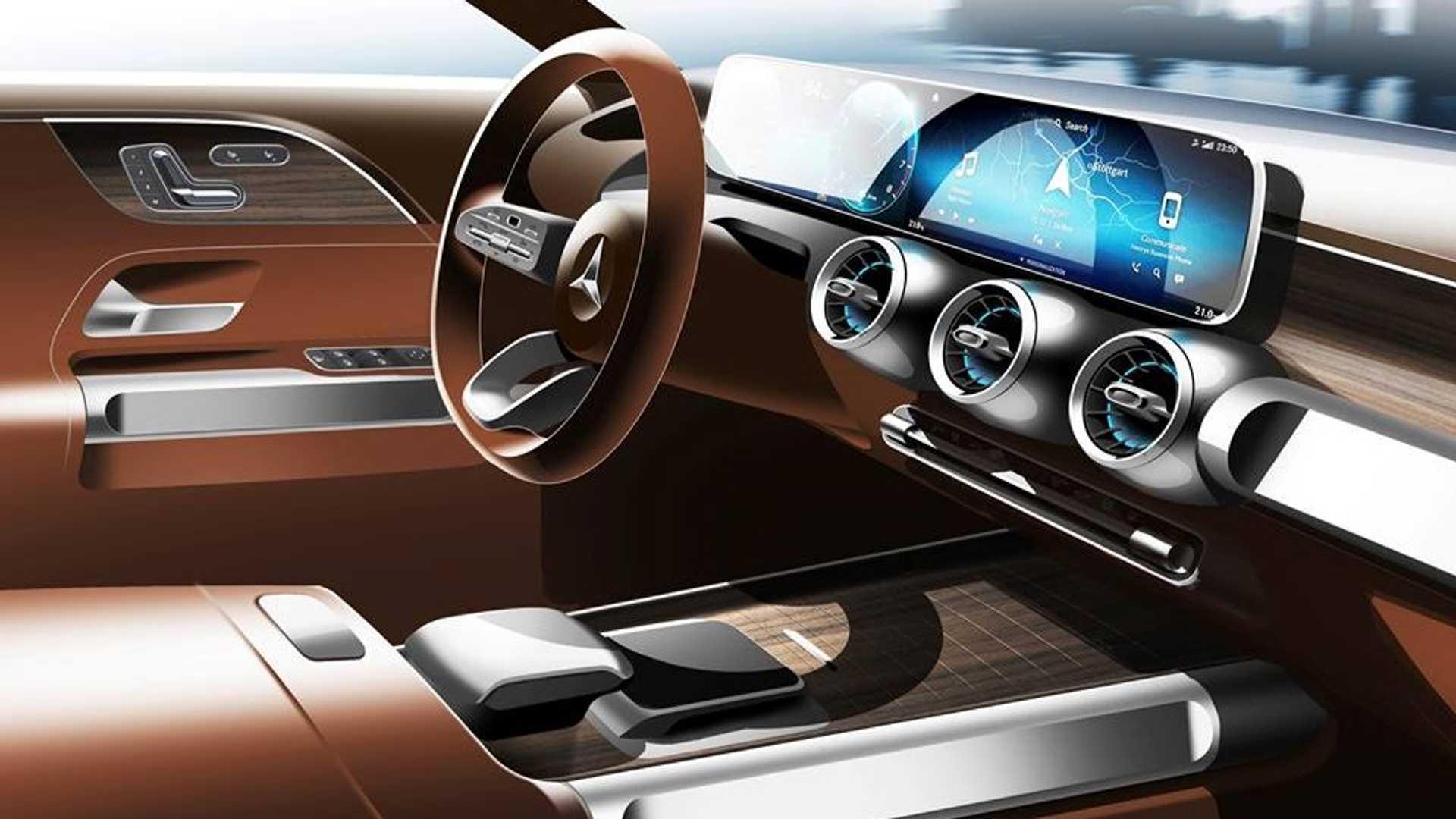 Mercedes GLB koncept tizer
