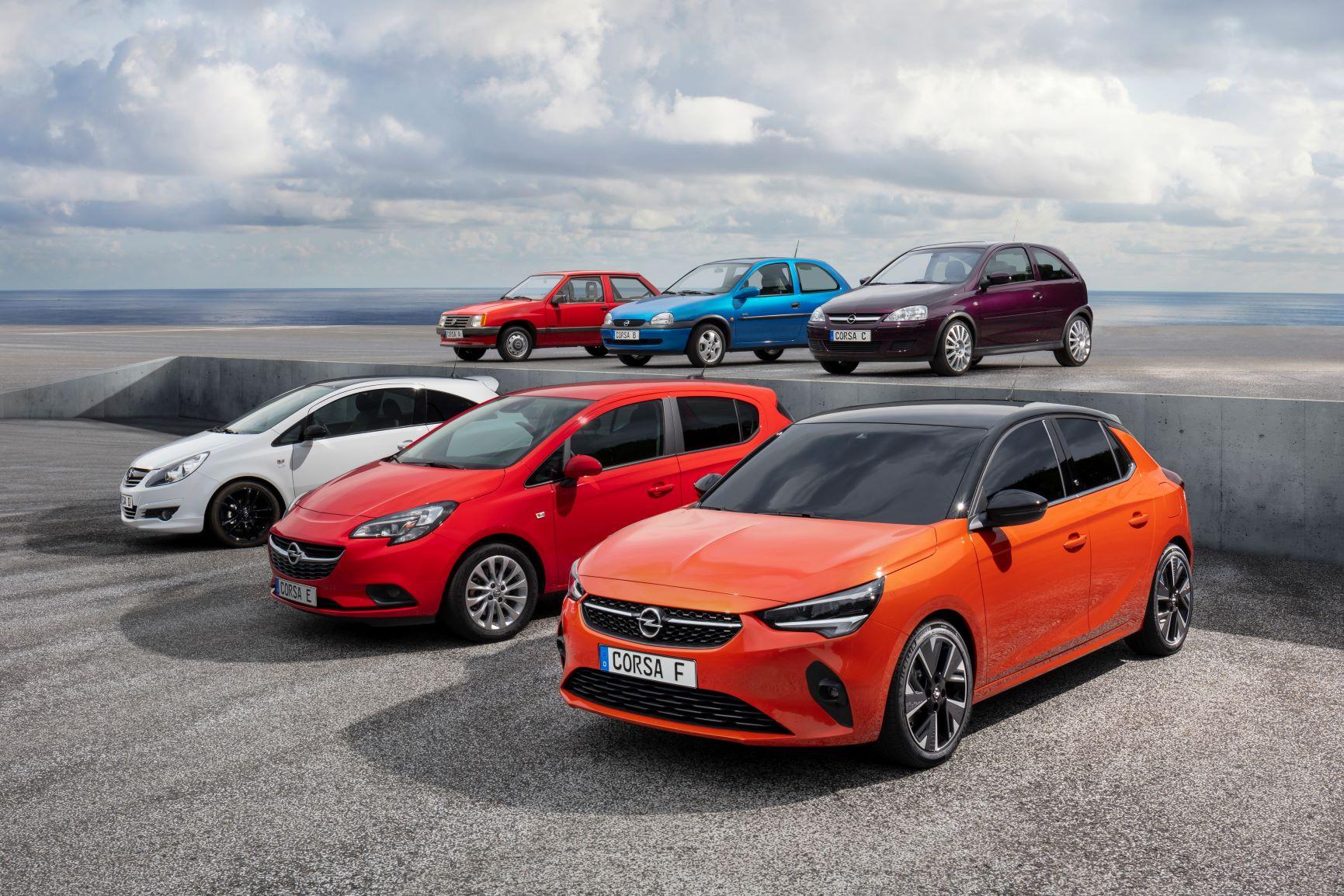 Opel Corsa šest generacija