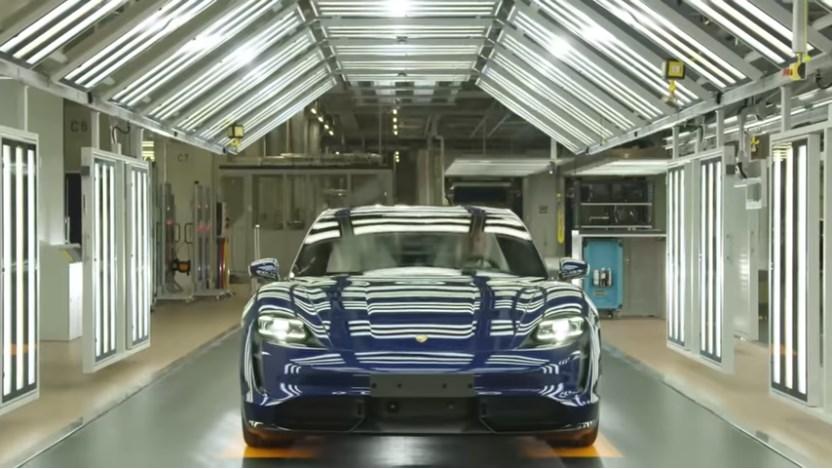 Porsche Taycan proizvodnja