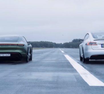Porsche Taycan Turbo S i Tesla Model S P100D